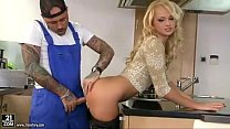 Desirable Blonde Housewife Gets Boned By Tattoo