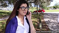 InnocentHigh Hot schoolgirl Ava Taylor in nerdy glasses fucked hardcore video