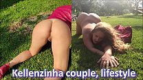 couple Kellenzinha lifestyle - complete in red