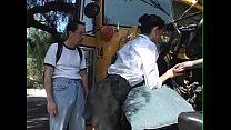 Schoolbusdriver Girl get fuck for repair the bus - BJ-Fuck-Anal-Facial-Cumshot