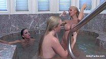 Abigail Mac Lesbian Threesome BTS
