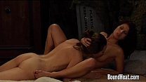 Two Gorgeous Lesbian Girls In Love With Their Mistress
