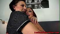 Chubby mature loves young beauty