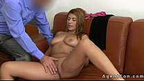 Busty babe with great ass anal fucked on casting