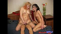 Russian mature mom in threesome 05 image