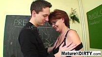Student fucks his much older teacher pornhub video