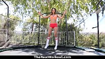 TheRealWorkout - Big Tittied Gymnast Fucks Her Coach thumbnail
