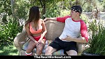 TheRealWorkout - Big Tittied Gymnast Fucks Her Coach