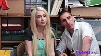 Slender blonde snatched by the smug officer video