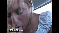 WANKZ - Blonde Teen Sucks Cock In The Back Seat!