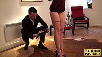 Fingerfucked sub slut punished by her maledom