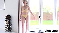 Unfaithful english milf lady sonia displays her heavy balloons