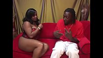 Cute black babe  Kim Eternity enjoys her wet pink pussy penetrated deep by a huge hard pole