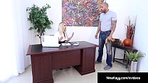 Hot Employer Nina Kayy Is Banged By A Big Dick Grunt Worker! image