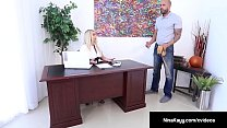 Hot Employer Nina Kayy Is Banged By A Big Dick Grunt Worker! Preview