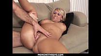 MomsWithBoys - Hot Blond Mom Anal Couch Fucked By Young Hard Cock