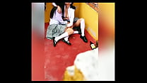 Public Threesome at School! Two Lesbian Students Kissing Behind Classrooms Inside School, Another Student Film them and They Have a Public Threesome! Vol 2