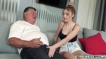 Old man fucks dirty blonde chick Paola Hard