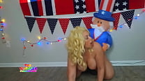 Blonde Pawg gets fucked by Uncle Sam