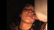 Slave wife gangbanged in adult theater preview image