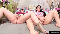 Thick Ladies Marcy Diamond And Angelina Castro Masturbate Together!