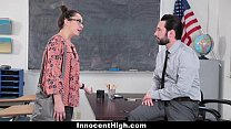 InnocentHigh - SchoolGirl Pretends Fucks Her Way Out Of Trouble preview image