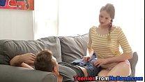 Massaged dutch teen jizz
