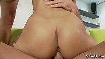 Skinny Teen Seduce to Fuck by Two Big Dick Boys thumbnail