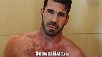 ShowerBait Muscle str8 Tony Shore shower fucked by friend