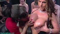 massive milf boobs rough gangbanged