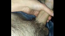 Stroking long dick