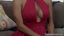 Rimmed trans babe bangs