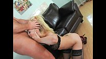 Blonde ass filled with cock