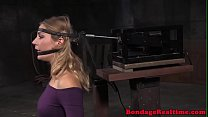 Mona Wales facefucked while tied to sybian image