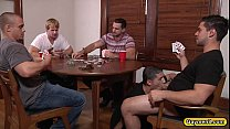 Tino Cortez fucked by three gay dicks