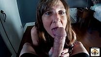 Horny Mom Sucks Off Her Step Sons Friend