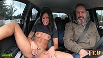 Natasha Rios gets on Ted's ride #102 and shows how naughty she is on the streets of São Paulo