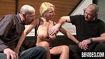 Busty german milf gets double fucked thumbnail