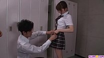 Moe Sakura does blowjob and fucks at school  - ...