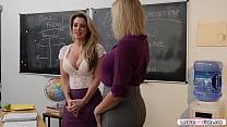 Milf teachers suck tits and lick pussy