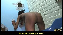 Ebony babe sucks white cock - gloryhole sex 5 image