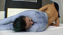 Sexy and Hard Headscissor Jeans Domiantion-Free Clip