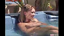 Young friend gets kinky in the hot tub porn thumbnail