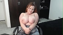 Curvy super big boobs girl have an great orgasm
