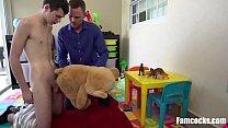 Dad Gets Son A Teddy Bear As Fuck Toy