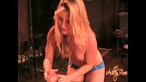 HANDJOB hot blonde chick plastic glove thumbnail