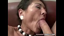 Hairy Granny Gets Cum On Her Hairy Pussy