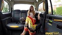 Fake Taxi Sex addict Stacey Saran fucks in taxi thumbnail
