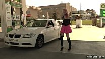 Slut gives full service at gas station Preview