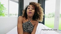 Curly haired ebony spinner bangs big cock interracial thumbnail
